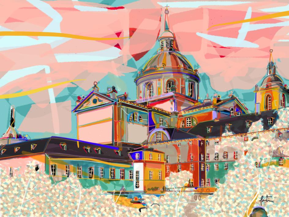 El Monasterio del Escorial |Digital de Santiago Esteban Glez | Compra arte en Flecha.es