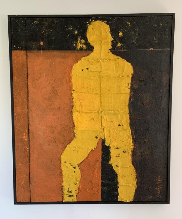 RECUERDO DEL PERSONAJE AMARILLO |Collage de Luis Granda | Compra arte en Flecha.es