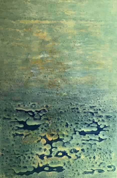 Paisaje matérico primaveral |Pintura de Enric Correa | Compra arte en Flecha.es