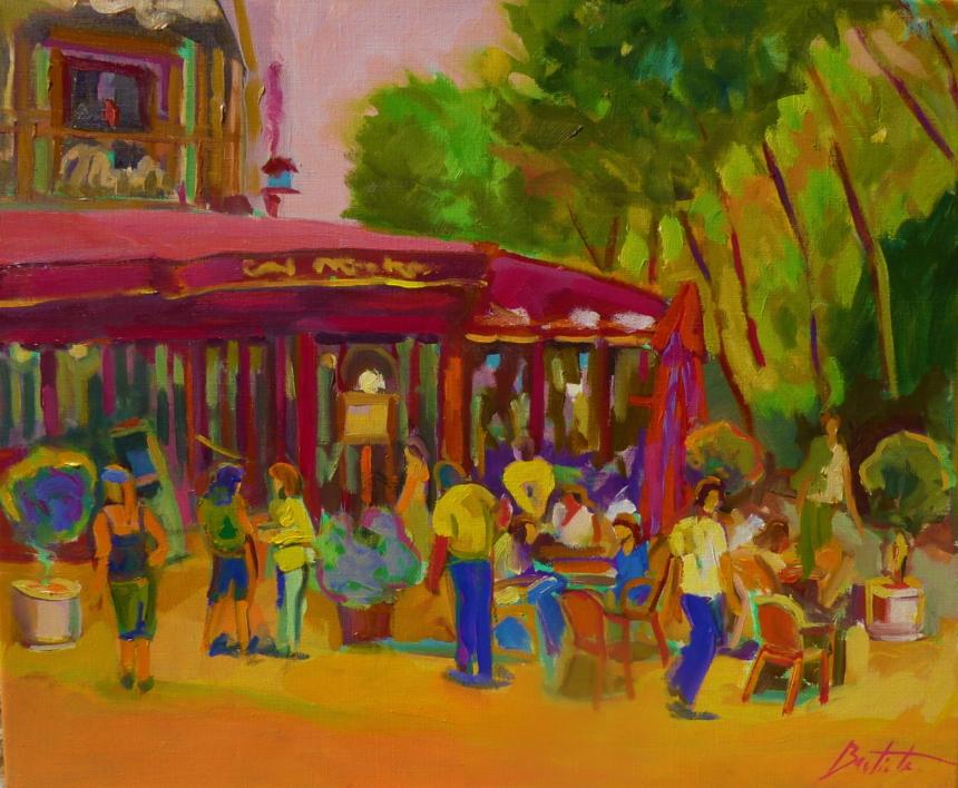 Café Maître Kantor  Pintura de José Bautista   Compra arte en Flecha.es