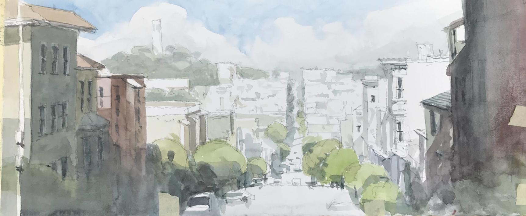 Calle de San Fracisco |Pintura de Iñigo Lizarraga | Compra arte en Flecha.es
