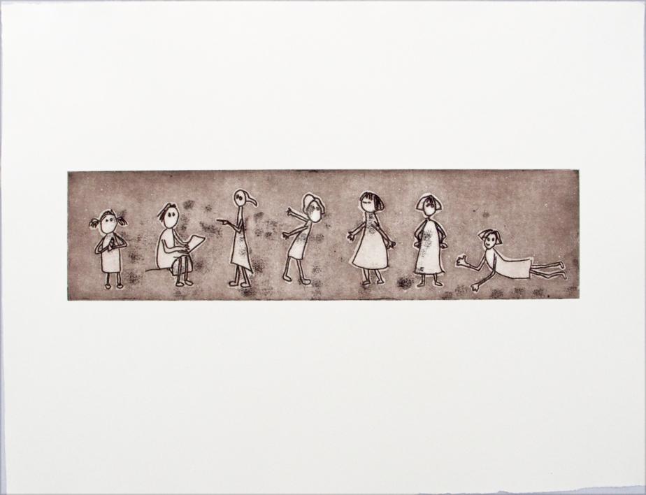 Gestos y posturitas 3  Obra gráfica de Ana Valenciano   Compra arte en Flecha.es