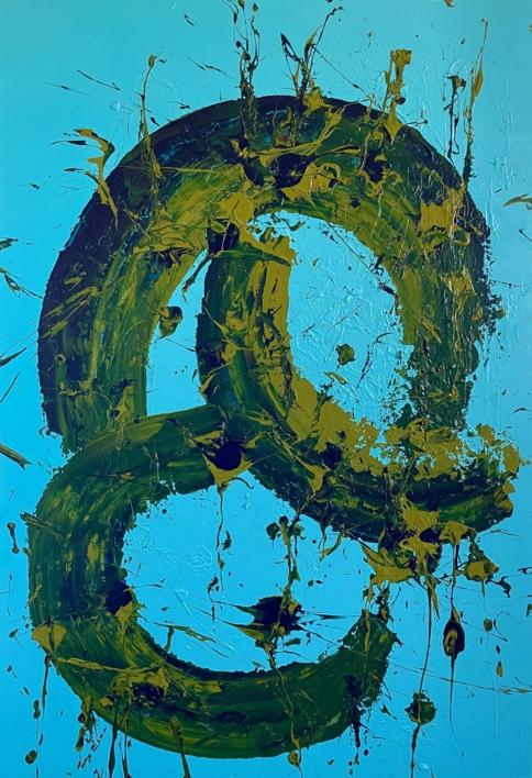 AZUL Y ÉTER |Pintura de ALFREDO MOLERO DOVAL | Compra arte en Flecha.es