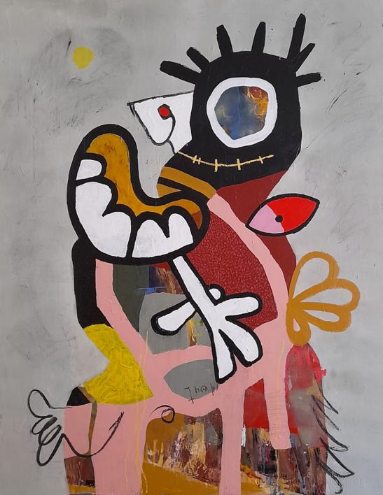 the jester king |Pintura de Héctor Glez | Compra arte en Flecha.es