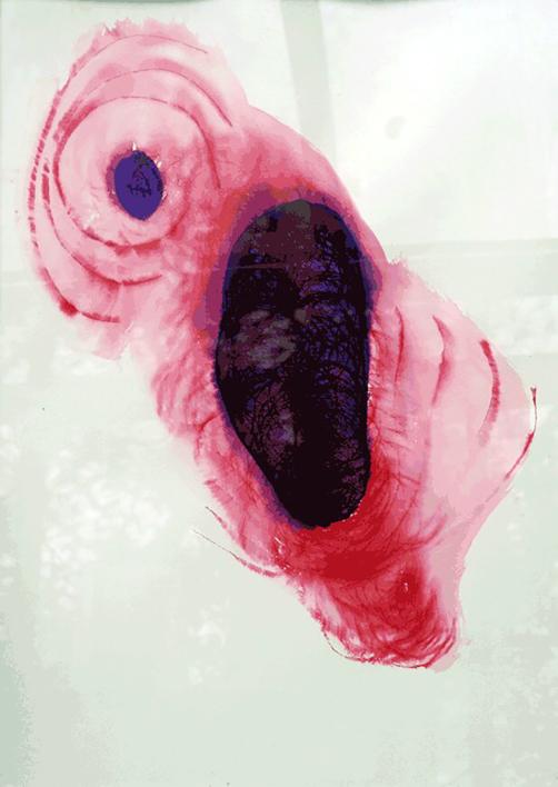 Violeta y rojo |Obra gráfica de María X. Fernández | Compra arte en Flecha.es
