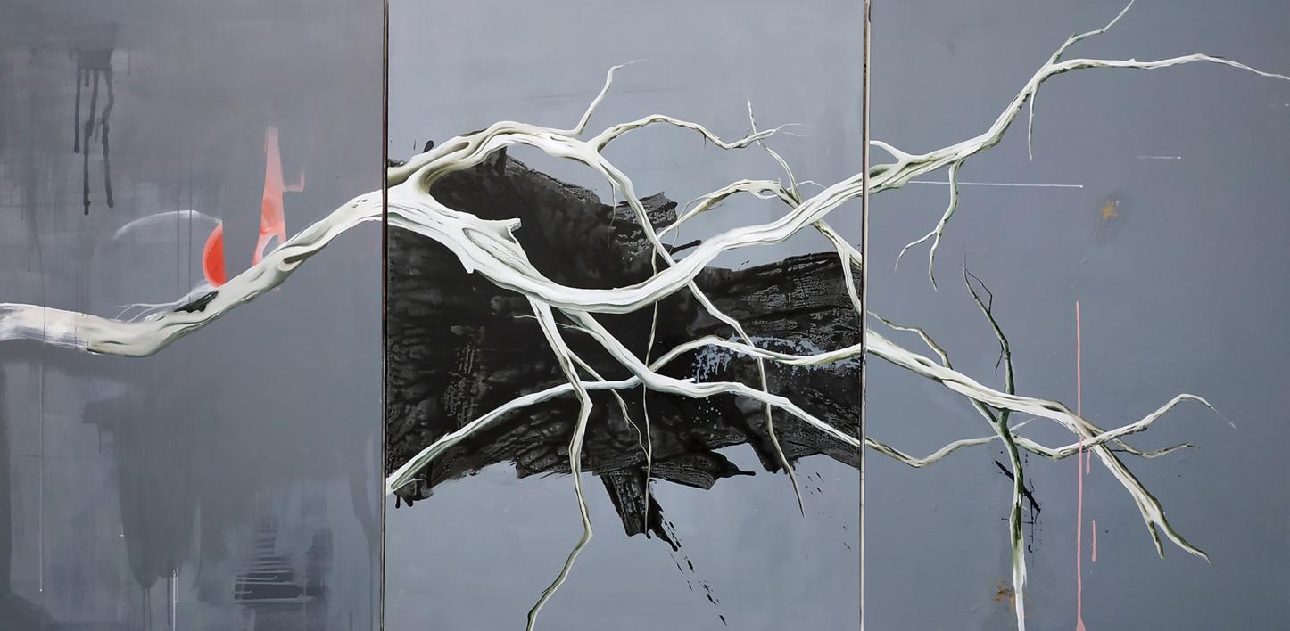 Raices #04  Pintura de Aya Eliav   Compra arte en Flecha.es