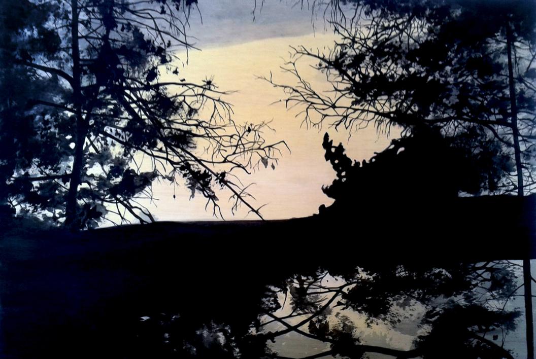 Bosque #1014  Pintura de Aya Eliav   Compra arte en Flecha.es