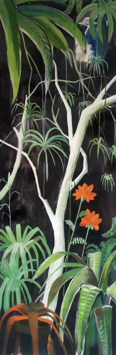 Mujer soñando con escapar #01 |Pintura de Aya Eliav | Compra arte en Flecha.es