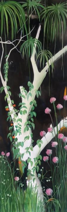 Mujer soñando con escapar #02 |Pintura de Aya Eliav | Compra arte en Flecha.es