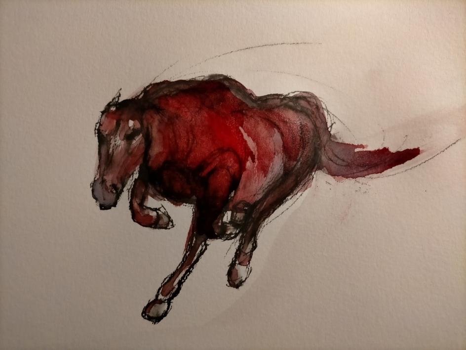 Running Horse |Dibujo de OliverPlehn-Artist | Compra arte en Flecha.es