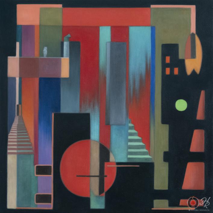 Metropolis |Pintura de Helena Revuelta | Compra arte en Flecha.es