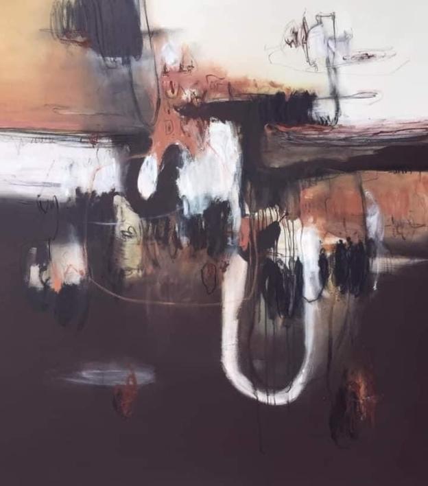 Ruptura de una tierra colorá |Pintura de Mallo | Compra arte en Flecha.es