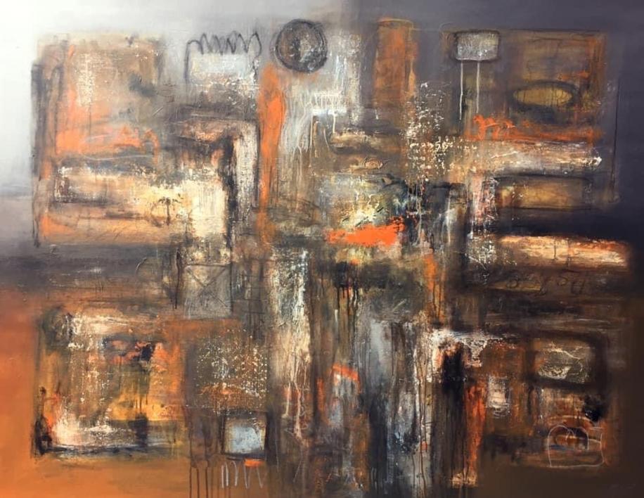 Huellas ocultas |Pintura de Mallo | Compra arte en Flecha.es
