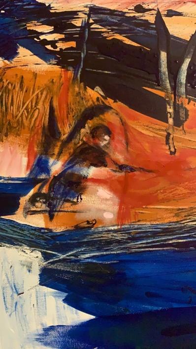 Recogiendo a Los Sueños | Pintura de Lika Shkhvatsabaia | Compra arte en Flecha.es