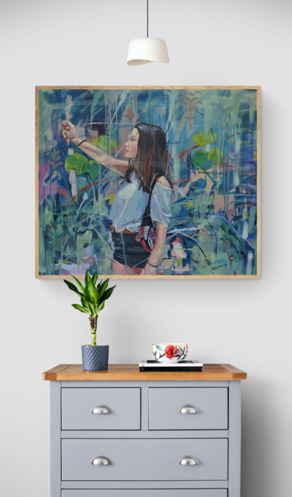 El punto de Mira | Pintura de Amaya Fernández Fariza | Compra arte en Flecha.es