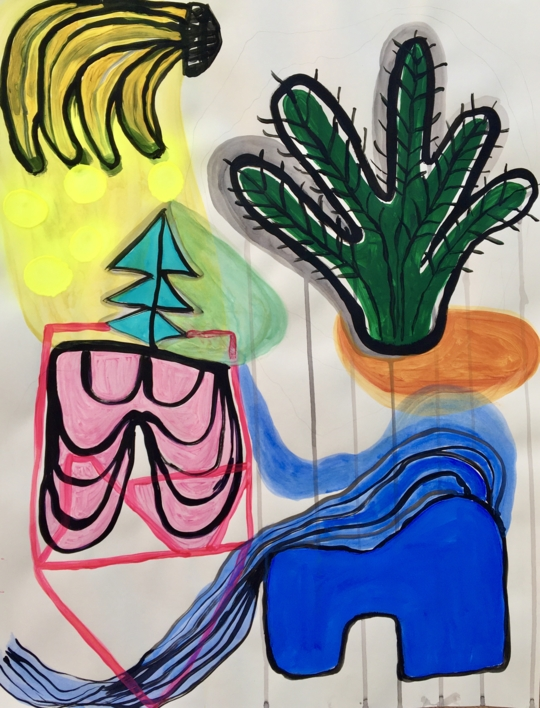 Banana split  Dibujo de Lisa   Compra arte en Flecha.es