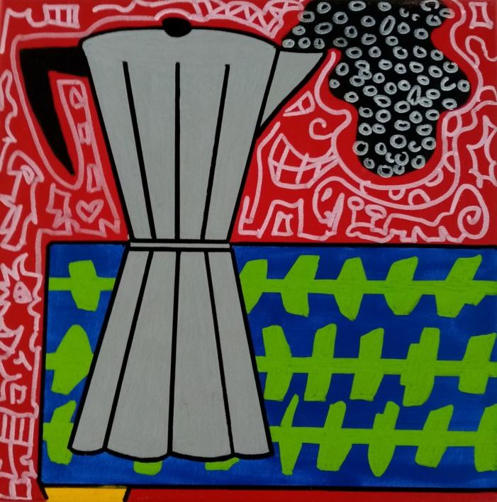 Café  Pintura de Philip Verhoeven   Compra arte en Flecha.es