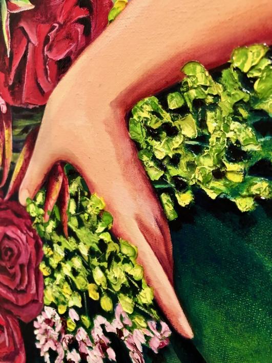 Menina Primavera | Pintura de Maite Rodriguez | Compra arte en Flecha.es