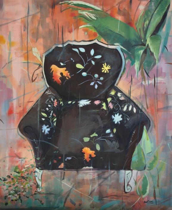Sillón  Negro |Pintura de Amaya Fernández Fariza | Compra arte en Flecha.es