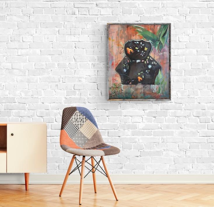 Sillón  Negro | Pintura de Amaya Fernández Fariza | Compra arte en Flecha.es