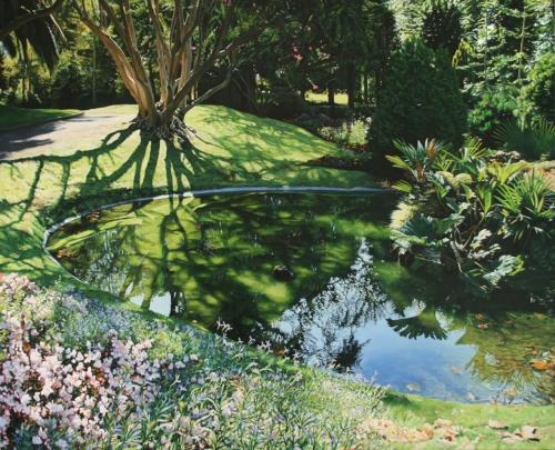 Jardines de Aiete. |Pintura de Javier Ramos Julián | Compra arte en Flecha.es
