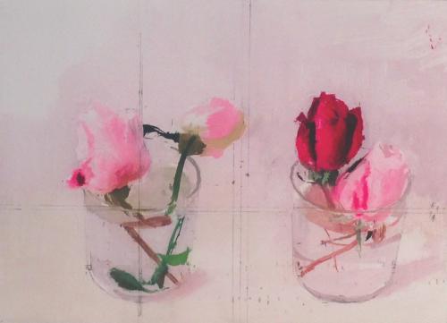 Rosas de Invierno II  Obra gráfica de Antonio López   Compra arte en Flecha.es