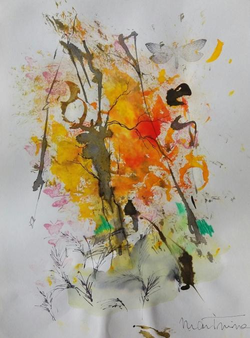 Tintas de Otoño nº5 |Dibujo de Martmina | Compra arte en Flecha.es