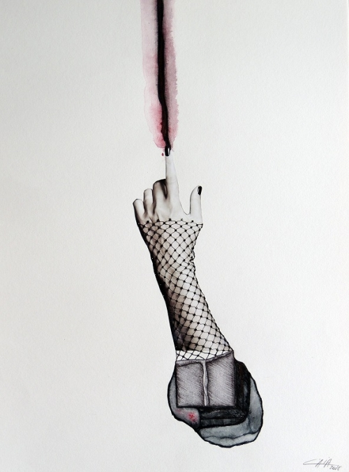 Abajo con dolor |Collage de Merche Chia | Compra arte en Flecha.es