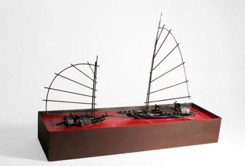 Mecong en Rojo II |Escultura de Fernando Suárez | Compra arte en Flecha.es