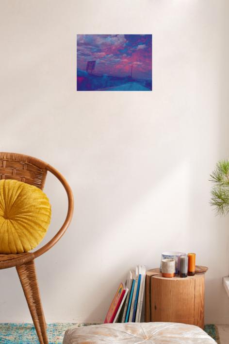Carretera azul | Digital de Fuensanta Niñirola | Compra arte en Flecha.es