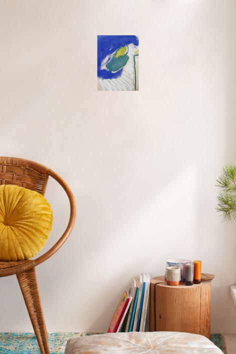 Azul y líneas blancas | Collage de Cecilia Sebastian | Compra arte en Flecha.es