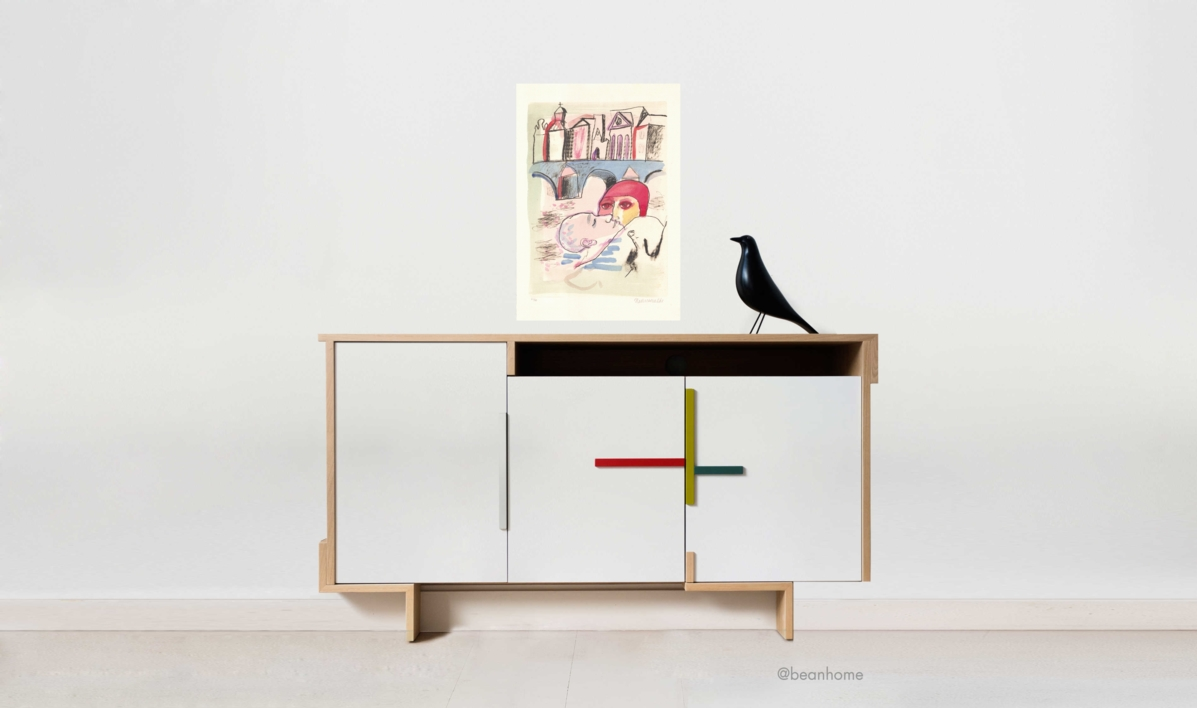 EL BESO   Obra gráfica de Juan Alcalde   Compra arte en Flecha.es