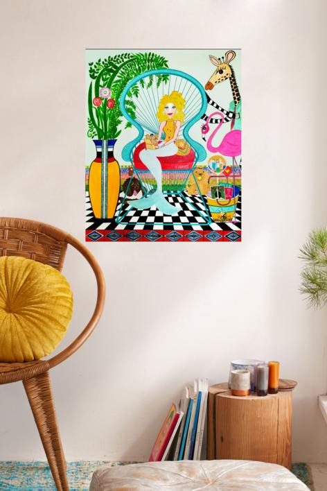 Sirena Sujey | Pintura de Ángela Fernández Häring | Compra arte en Flecha.es