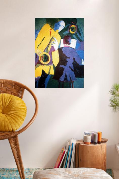 Jazz trío | Obra gráfica de Jenifer Carey | Compra arte en Flecha.es