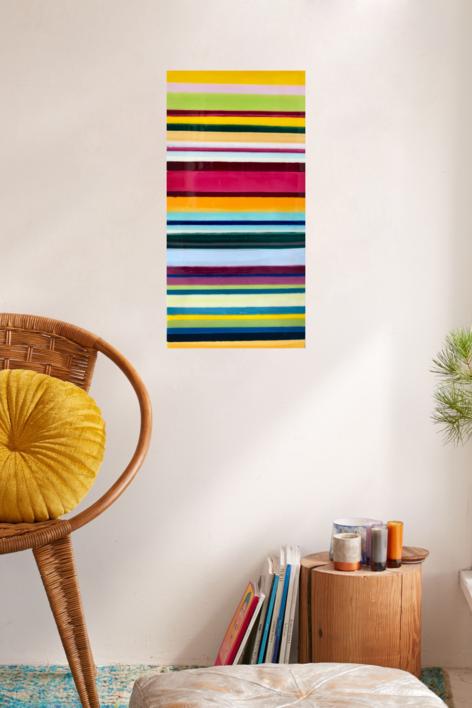 Summer lines | Pintura de Yanespaintings | Compra arte en Flecha.es