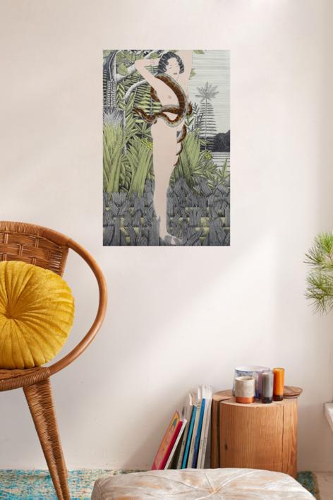 Serie Desnudos: Rousseau | Obra gráfica de Fernando Bellver | Compra arte en Flecha.es
