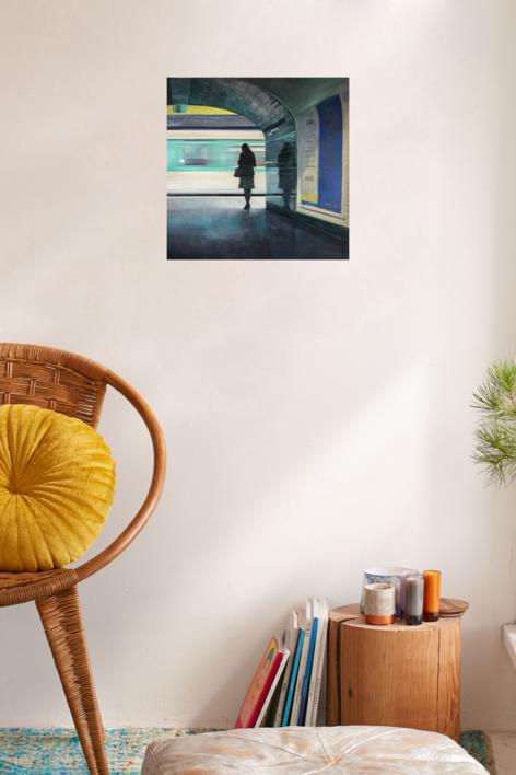 Pasando el tren | Pintura de Orrite | Compra arte en Flecha.es