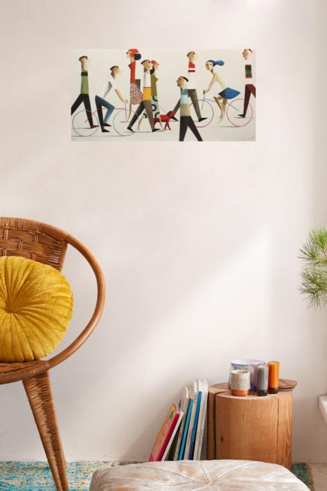 WALK THE DOG | Obra gráfica de Didier Lourenço | Compra arte en Flecha.es