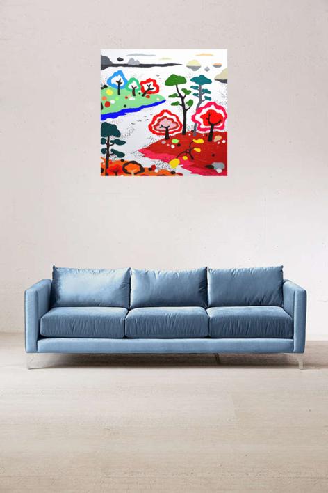 El nuevo santuario | Pintura de ALEJOS | Compra arte en Flecha.es