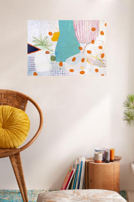 Portolakí Polka | Pintura de Ana Cano Brookbank | Compra arte en Flecha.es
