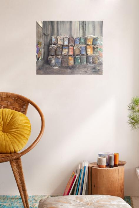 Bidones | Pintura de Rodríguez Lobo | Compra arte en Flecha.es