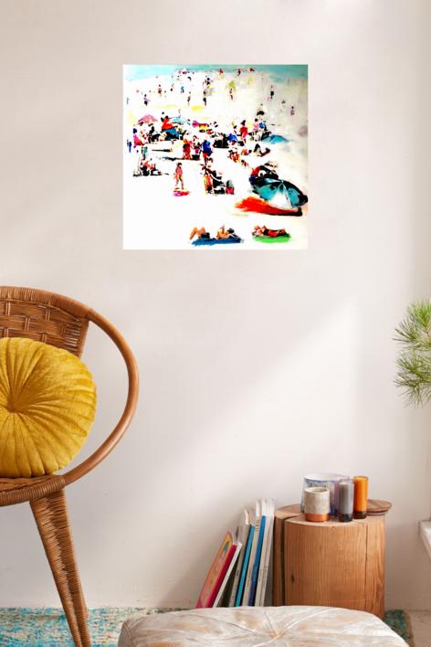 En la playa | Collage de Erika Nolte | Compra arte en Flecha.es