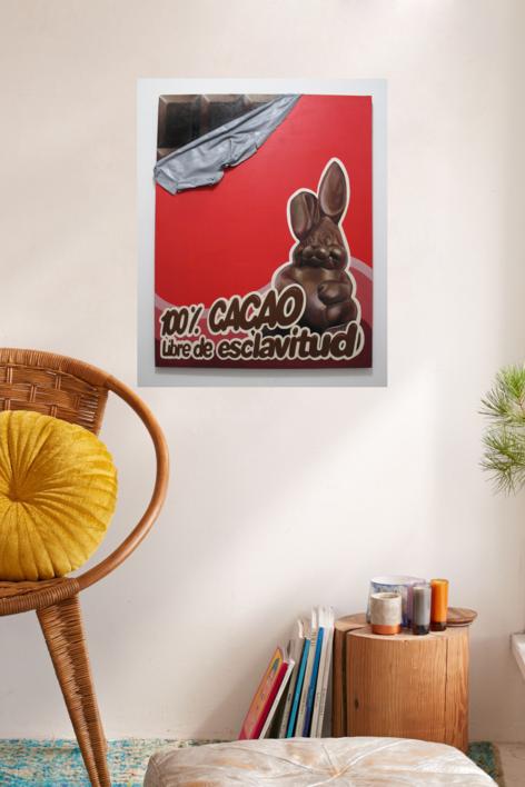 Cacao 100 % libre de esclavitud. | Pintura de JoseSalguero | Compra arte en Flecha.es