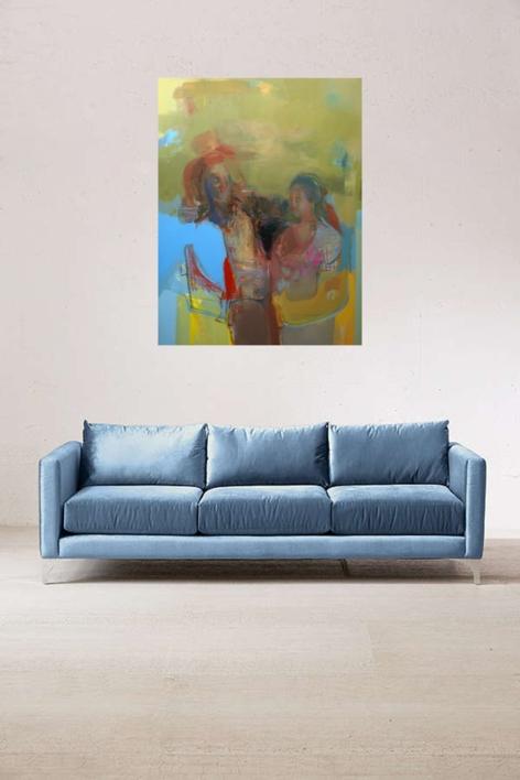 La no espera   Pintura de María Argüelles   Compra arte en Flecha.es