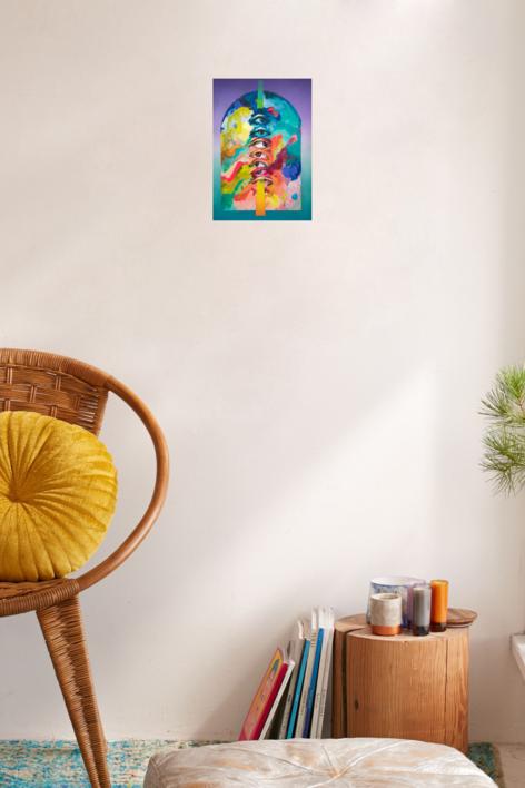 Santuario II   Pintura de Misterpiro   Compra arte en Flecha.es