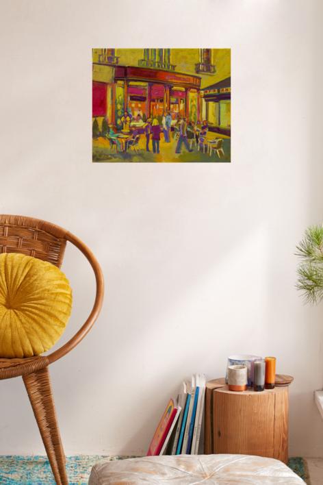 Blue Margarita | Pintura de José Bautista | Compra arte en Flecha.es