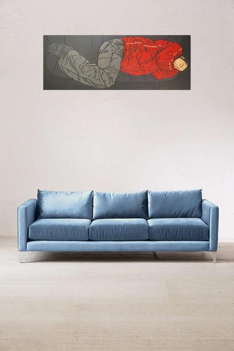 Negro y Rojo | Pintura de Cova Mejía | Compra arte en Flecha.es