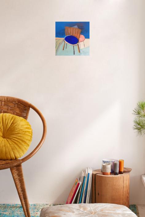 Chaise Bleue et rose | Pintura de Ana Cano Brookbank | Compra arte en Flecha.es