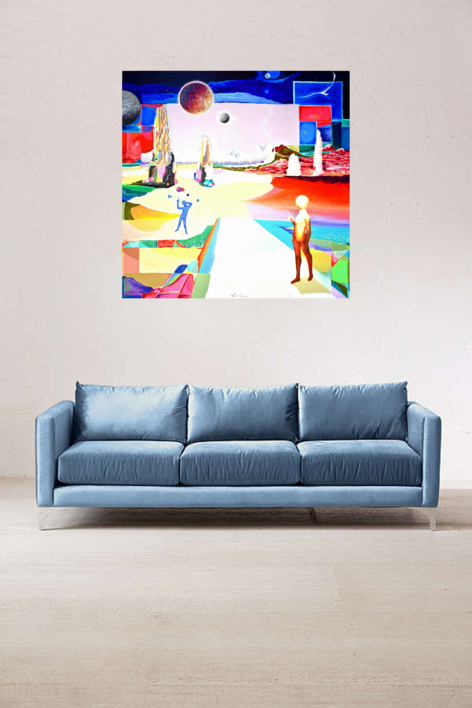 Permanece en estos caminos | Pintura de ALEJOS | Compra arte en Flecha.es