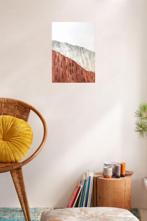 Tierra y rocas | Pintura de Milena Mateva | Compra arte en Flecha.es
